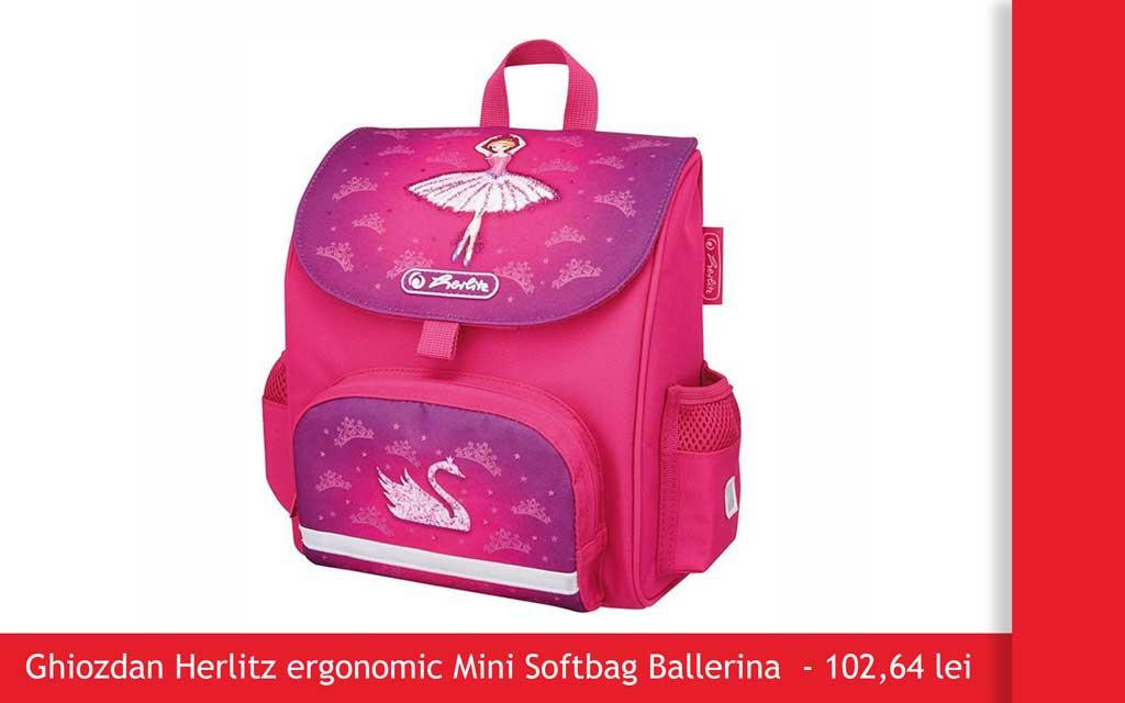 ghiozdan herlitz mini softbag ballerina