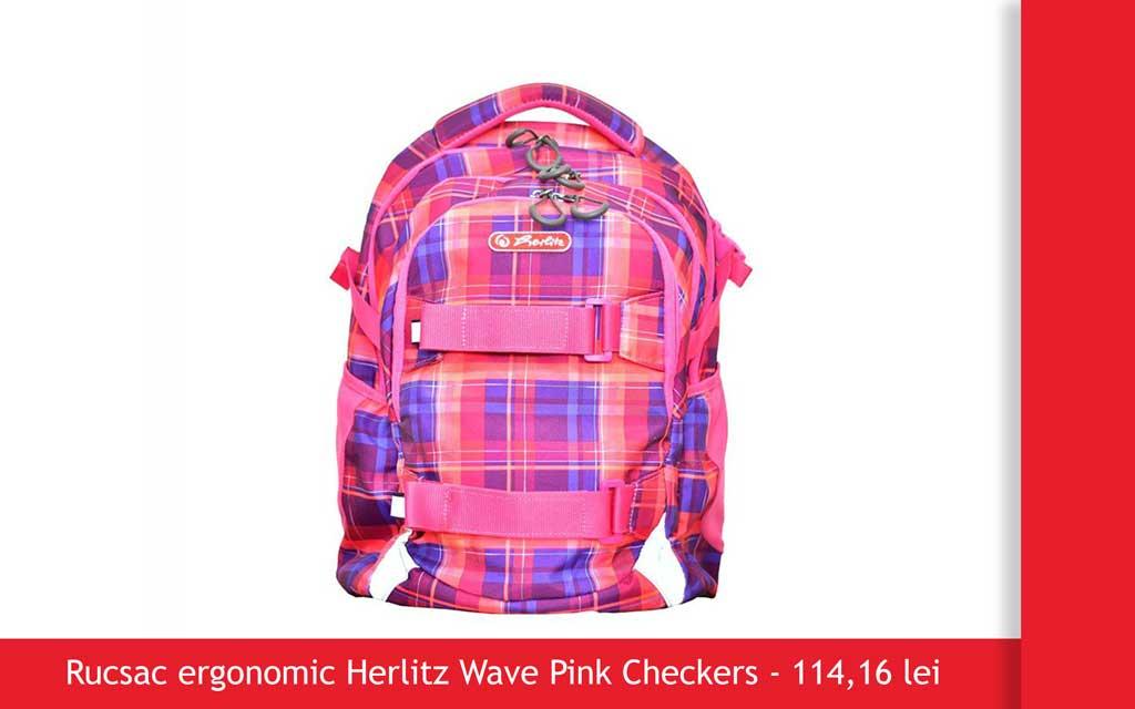Rucsac herlitz pink wave