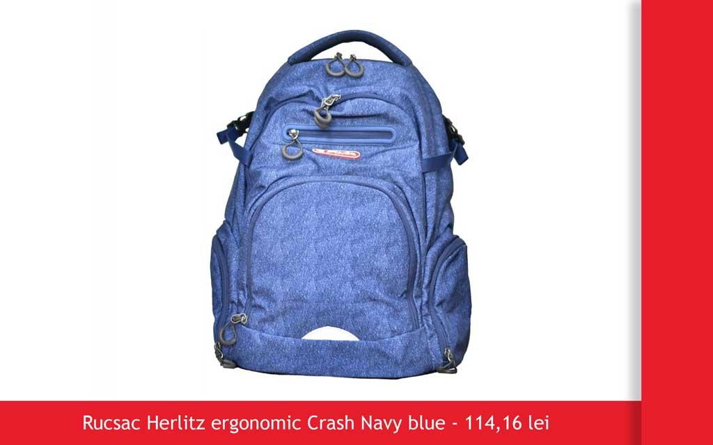 rucsac herlitz crash navy blue